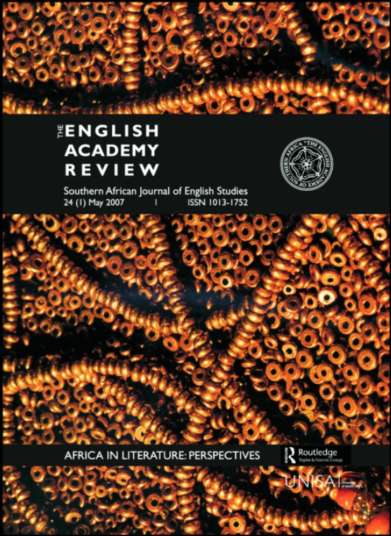 Cover image - English Academy Review