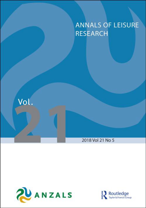 Cover image - Annals of Leisure Research