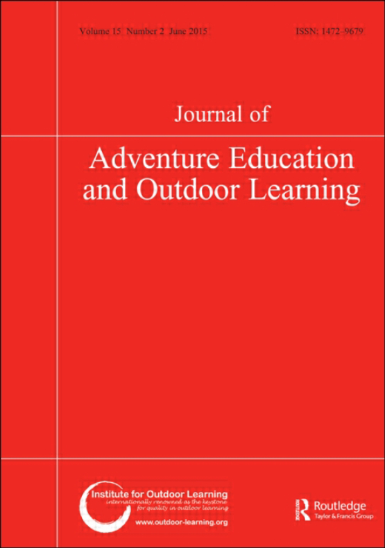 Cover image - Journal of Adventure Education and Outdoor Learning