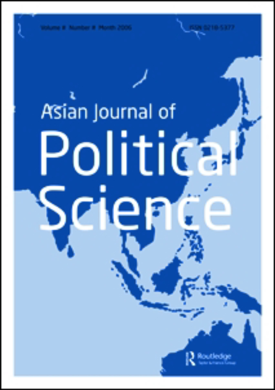 Cover image - Asian Journal of Political Science