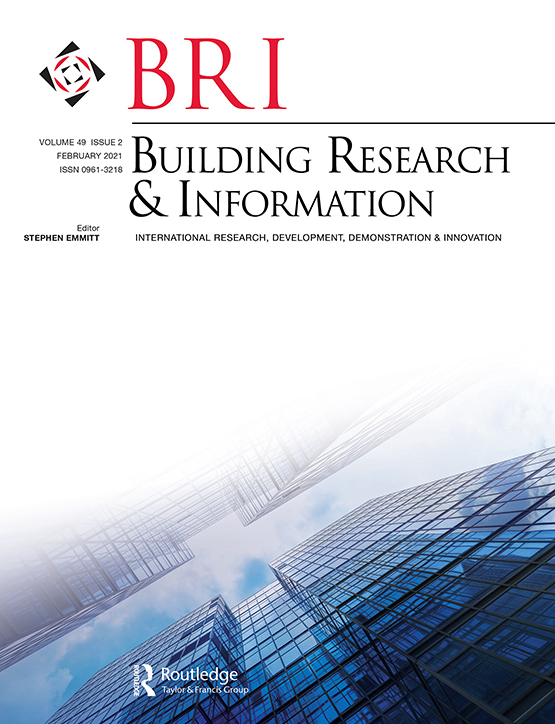 Cover image - Building Research & Information