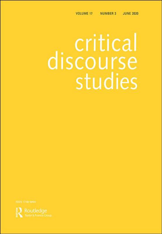 Cover image - Critical Discourse Studies