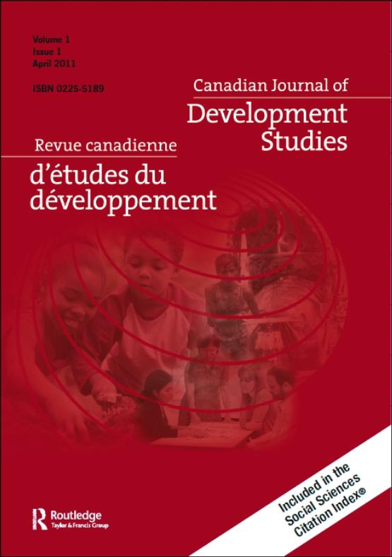 Cover image - Canadian Journal of Development Studies / Revue canadienne d'études du développement