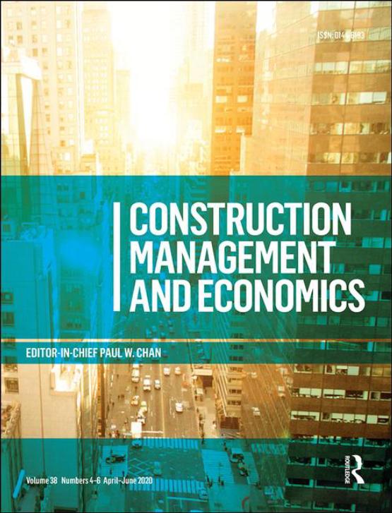 Cover image - Construction Management and Economics