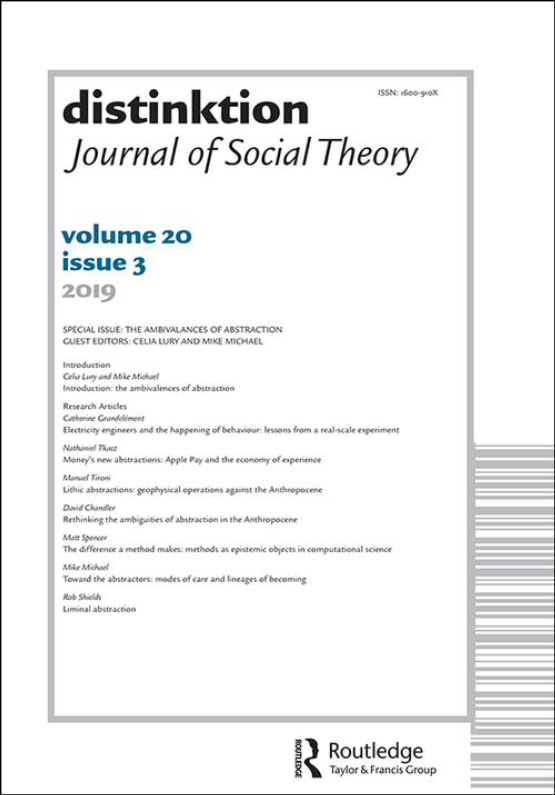 Cover image - Distinktion: Journal of Social Theory