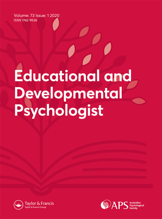Cover image - The Educational and Developmental Psychologist