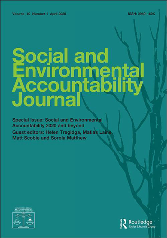 Cover image - Social and Environmental Accountability Journal