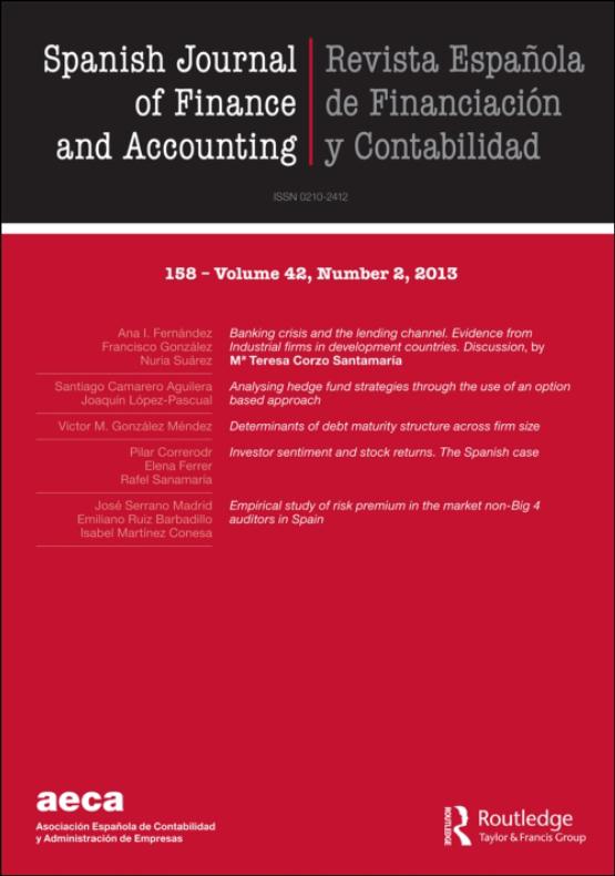 Cover image - Spanish Journal of Finance and Accounting / Revista Española de Financiación y Contabilidad