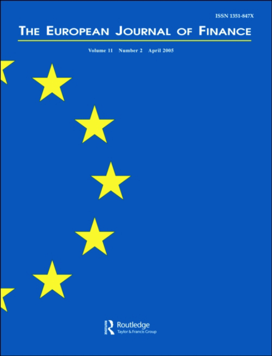 Cover image - The European Journal of Finance