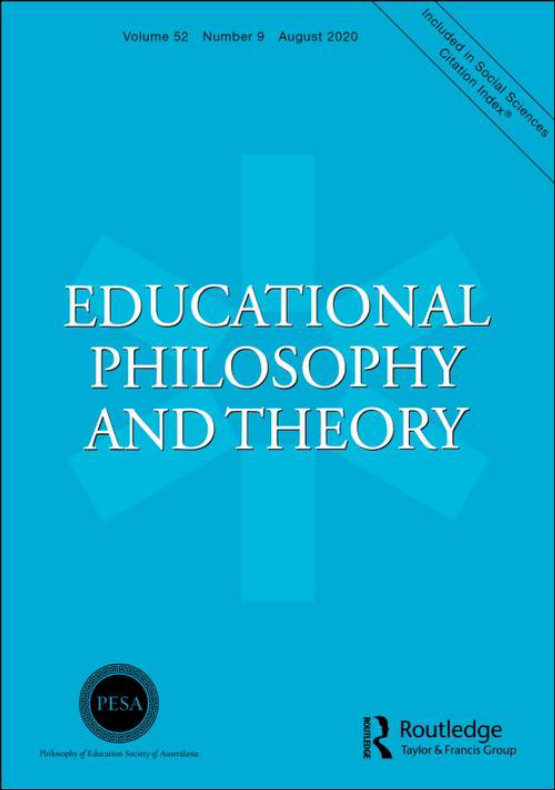 Cover image - Educational Philosophy and Theory