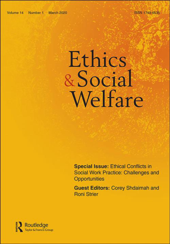 Cover image - Ethics and Social Welfare