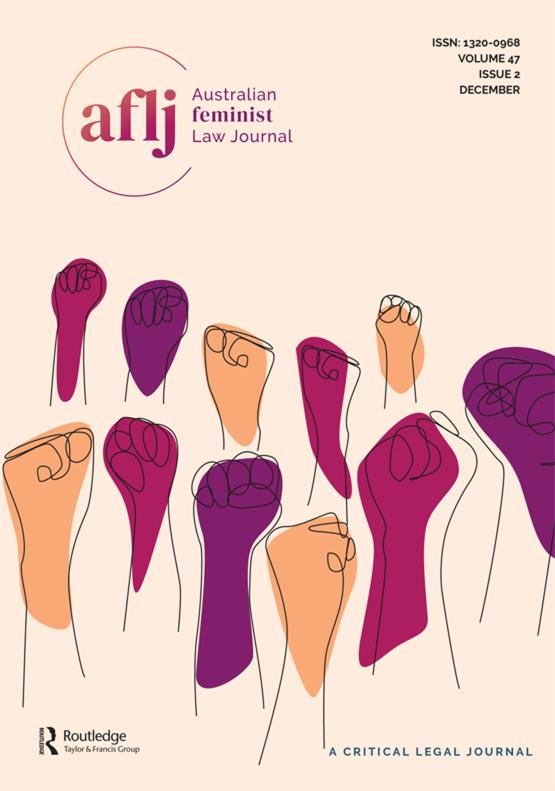 Cover image - Australian Feminist Law Journal