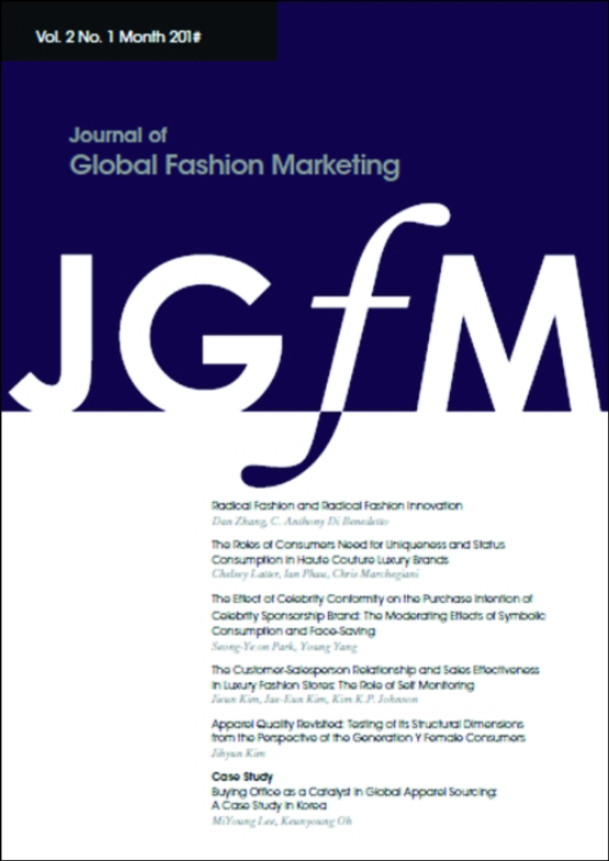 Cover image - Journal of Global Fashion Marketing