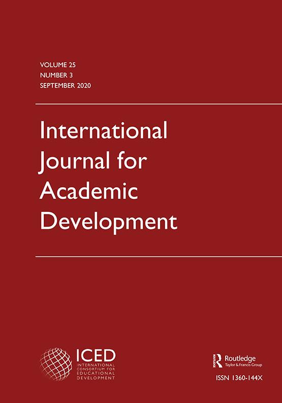 Cover image - International Journal for Academic Development