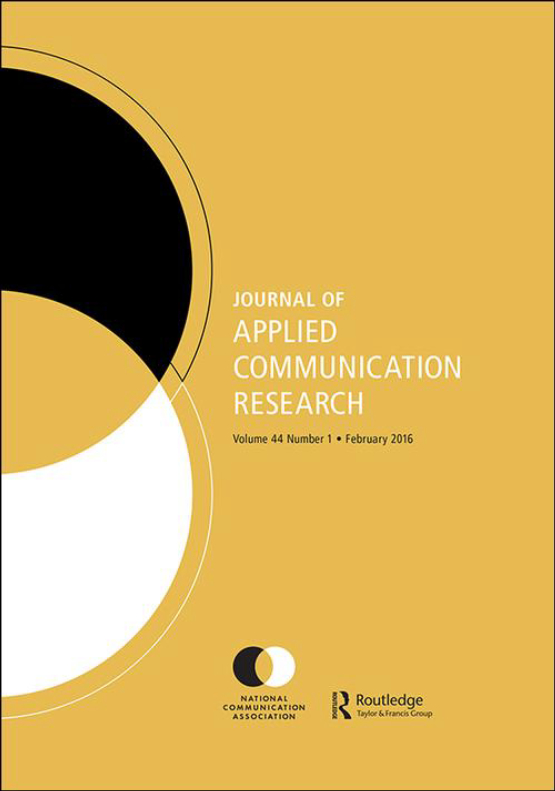 Cover image - Journal of Applied Communication Research