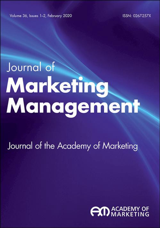 Cover image - Journal of Marketing Management