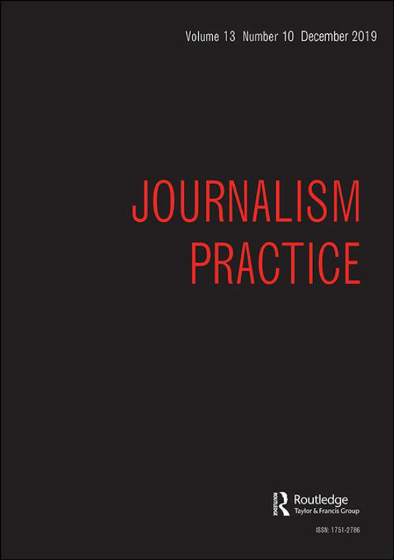 Cover image - Journalism Practice