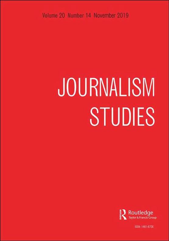 Cover image - Journalism Studies