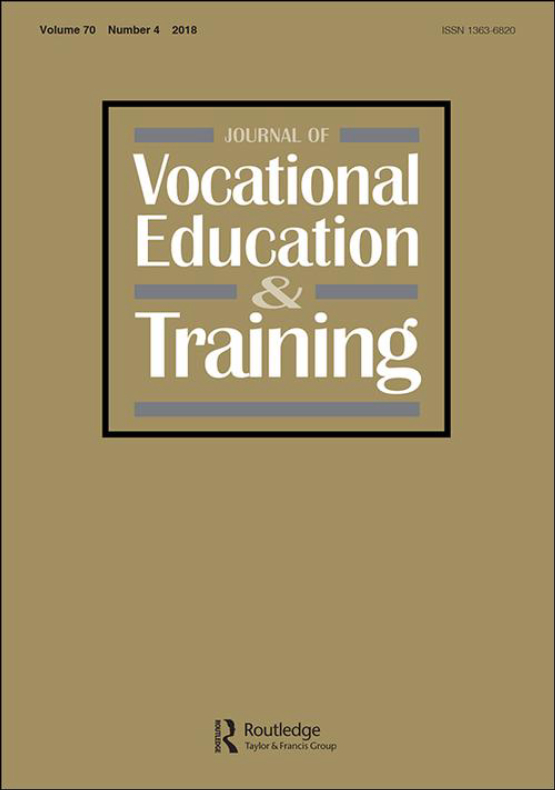 Cover image - Journal of Vocational Education & Training