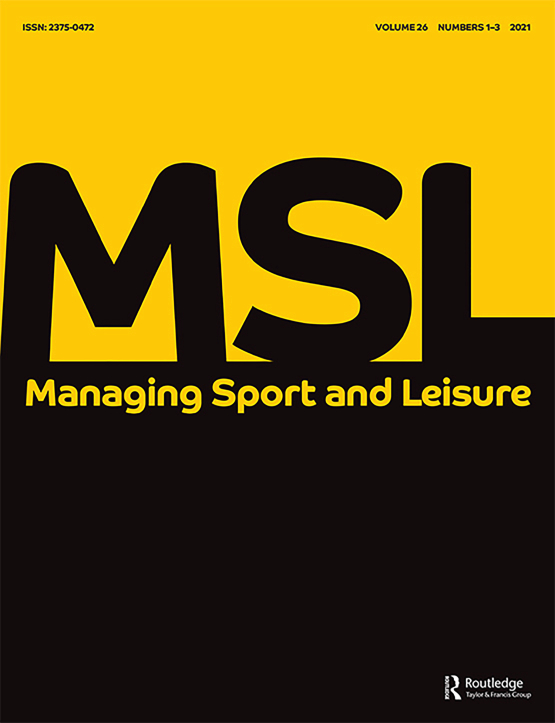 Cover image - Managing Sport and Leisure