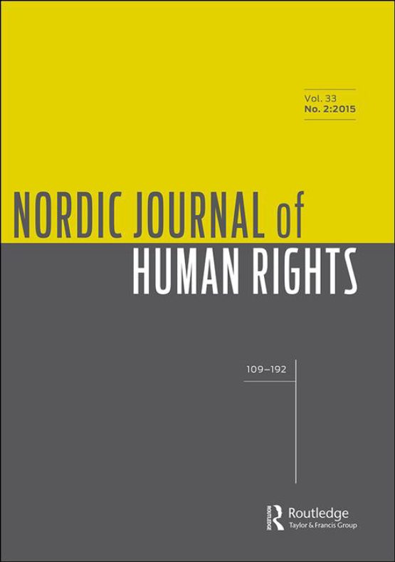 Cover image - Nordic Journal of Human Rights