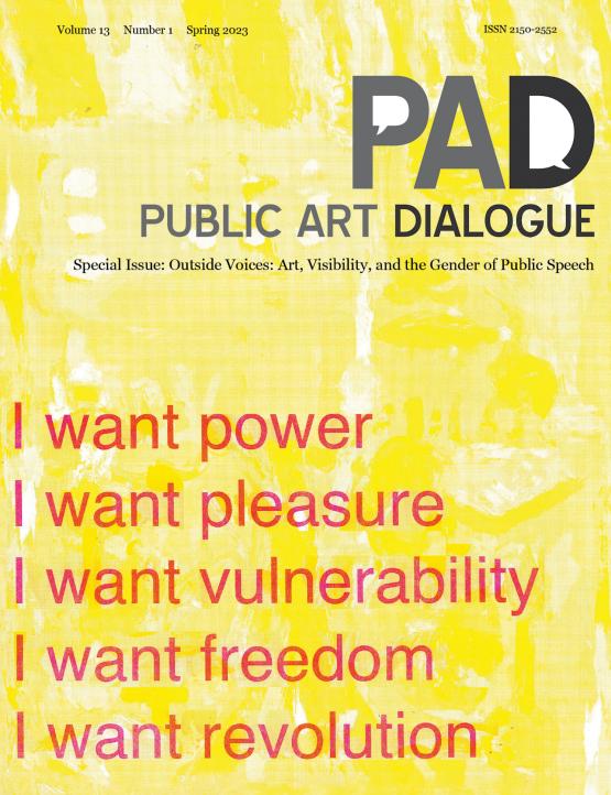 Cover image - Public Art Dialogue
