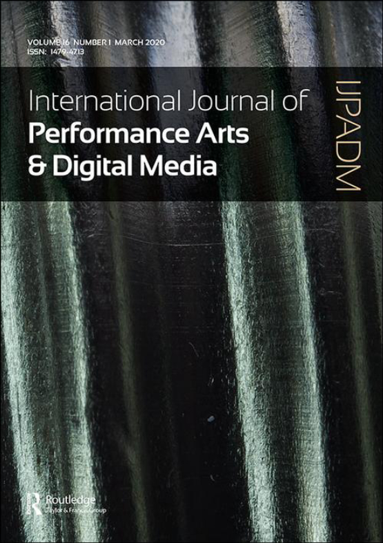 Cover image - International Journal of Performance Arts and Digital Media