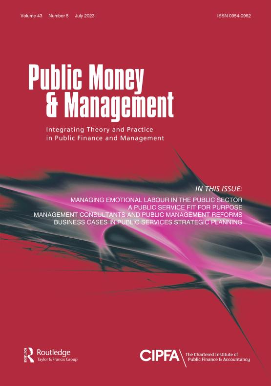 Cover image - Public Money & Management