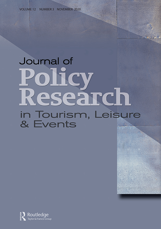 Cover image - Journal of Policy Research in Tourism, Leisure and Events