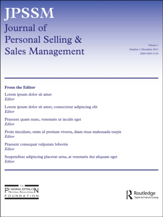 Cover image - Journal of Personal Selling & Sales Management