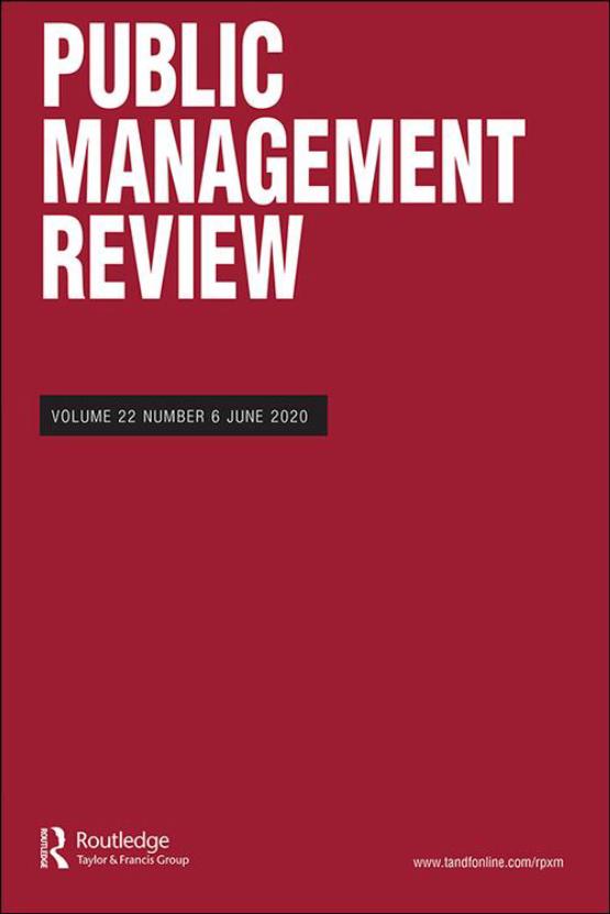 Cover image - Public Management Review