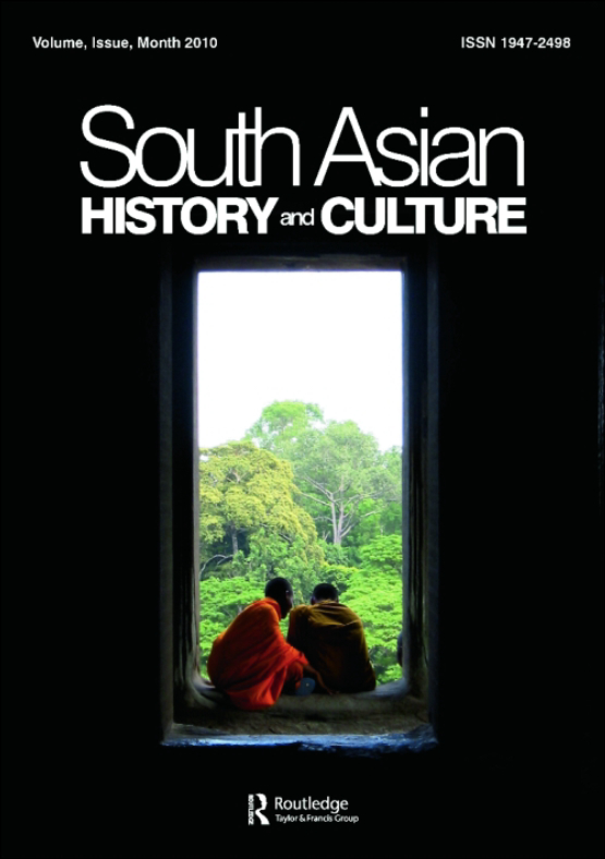 Cover image - South Asian History and Culture