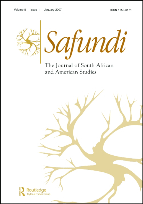 Cover image - Safundi: The Journal of South African and American Studies