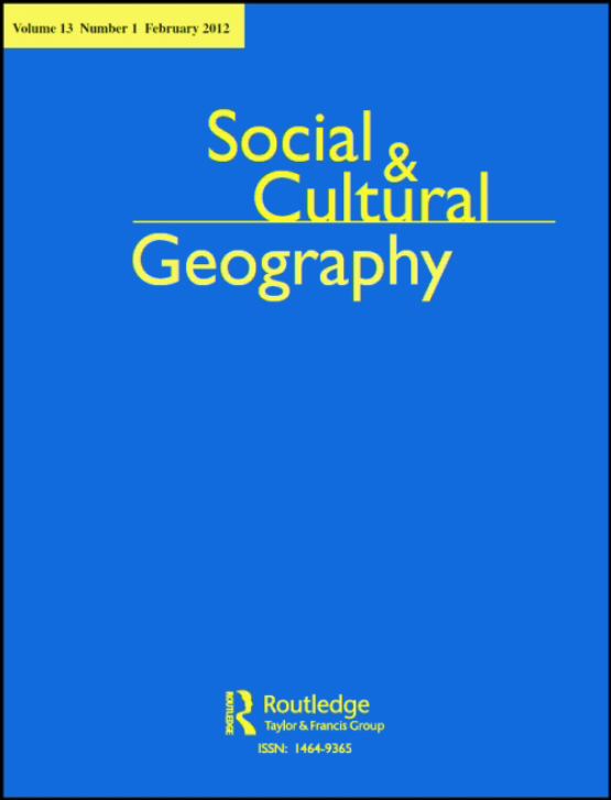 Cover image - Social & Cultural Geography