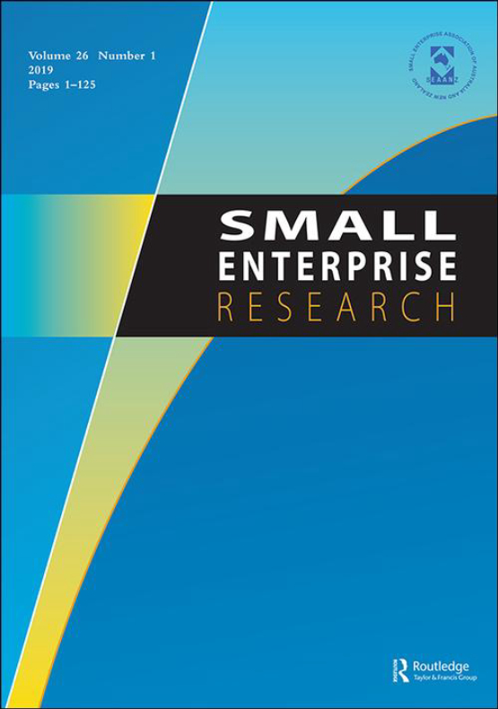 Cover image - Small Enterprise Research