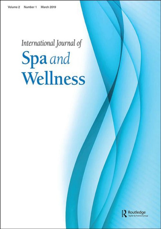 Cover image - International Journal of Spa and Wellness