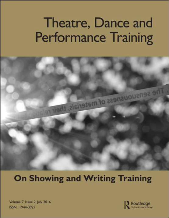 Cover image - Theatre, Dance and Performance Training