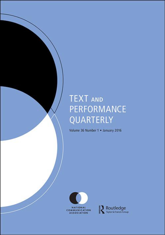 Cover image - Text and Performance Quarterly
