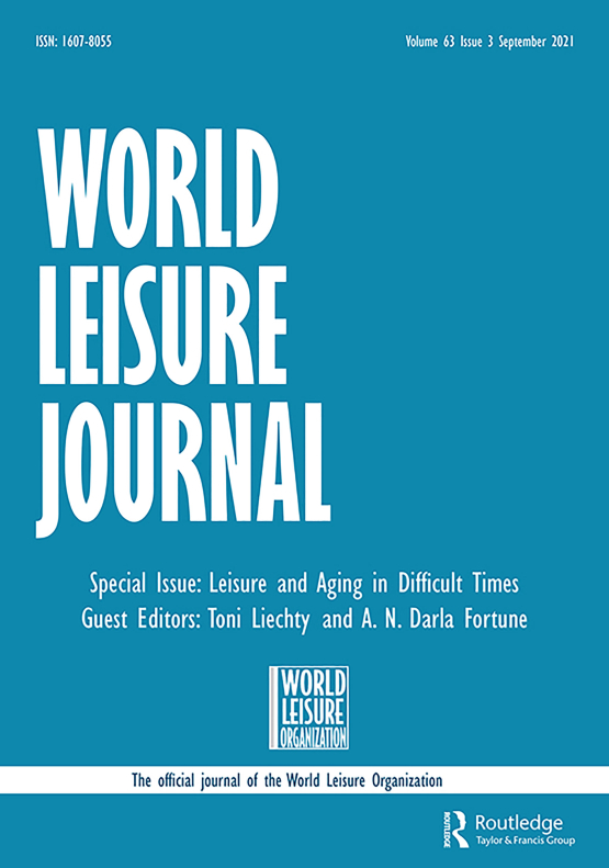 Cover image - World Leisure Journal