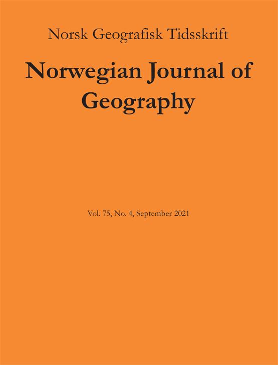 Cover image - Norsk Geografisk Tidsskrift - Norwegian Journal of Geography