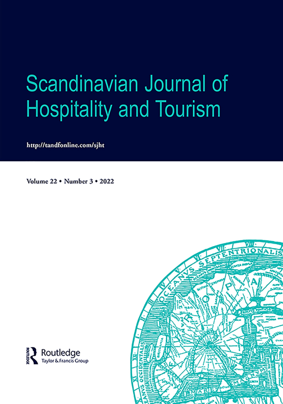 Cover image - Scandinavian Journal of Hospitality and Tourism