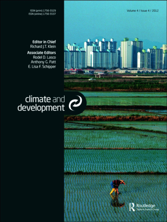 Cover image - Climate and Development