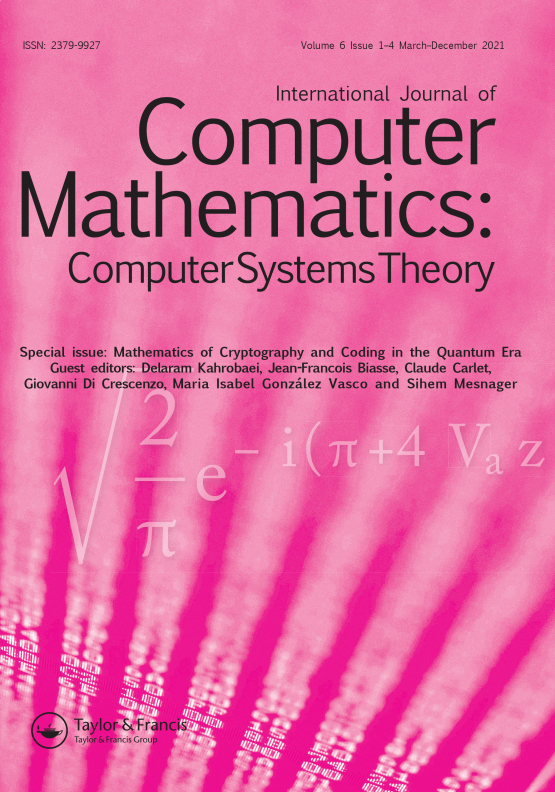 Cover image - International Journal of Computer Mathematics: Computer Systems Theory