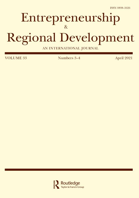 Cover image - Entrepreneurship & Regional Development