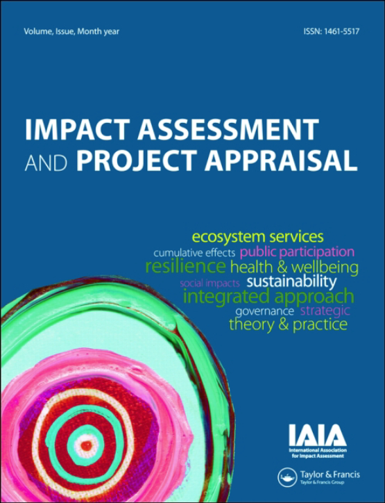 Cover image - Impact Assessment and Project Appraisal