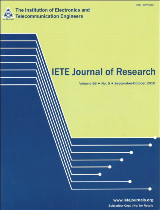 Cover image - IETE Journal of Research