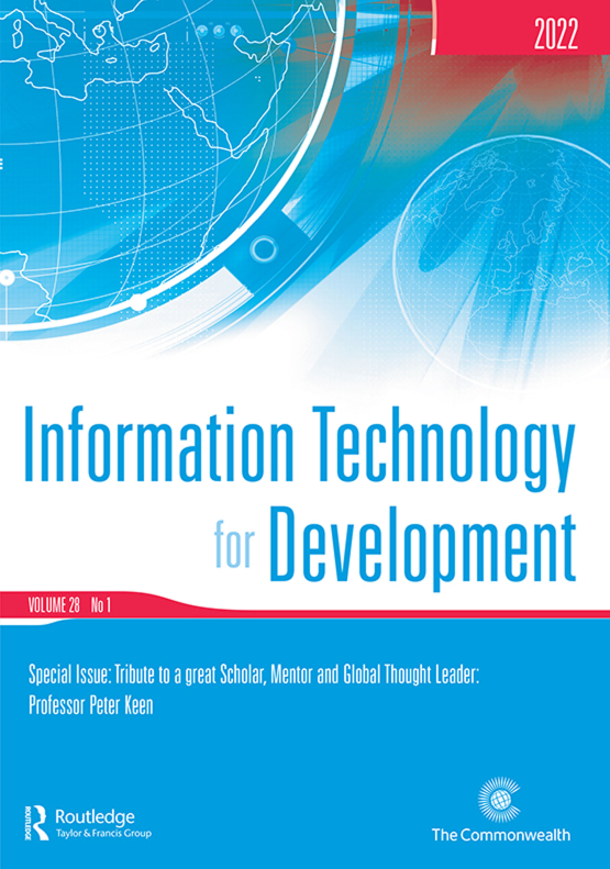 Cover image - Information Technology for Development