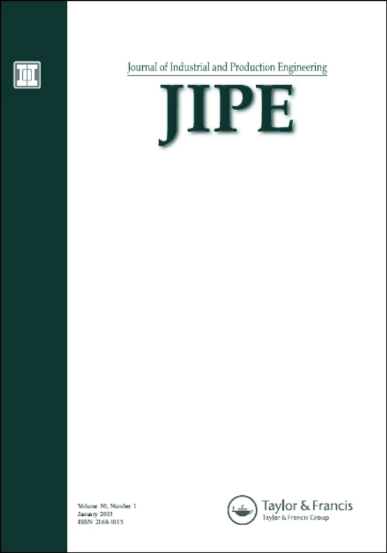 Cover image - Journal of Industrial and Production Engineering