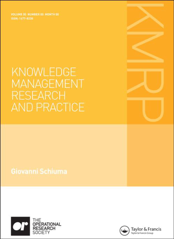 Cover image - Knowledge Management Research & Practice