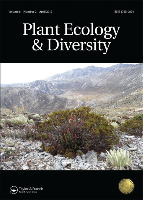 Cover image - Plant Ecology & Diversity